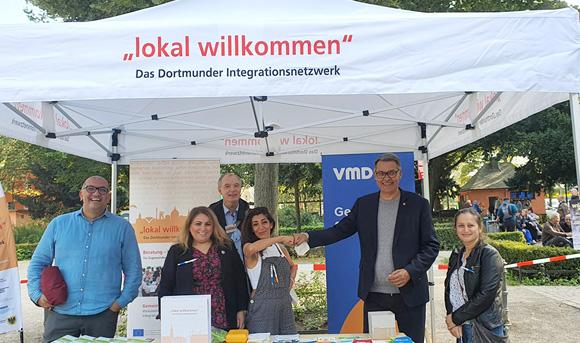 """lokal willkommen"" auf dem Festival ""Willkommen Almanya"" am Nordmarkt"