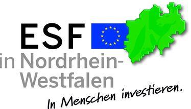 Logo ESF in NRW in Menschen investieren