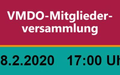 Mitgliederversammlung des VMDO