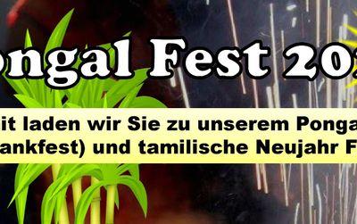 Tamilisches Erntdankfest Pongal Fest am 15. Januar