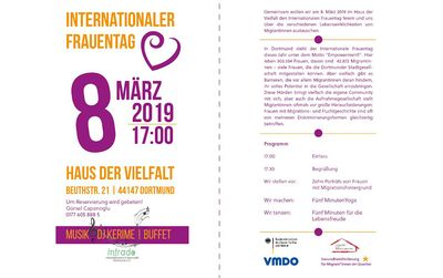 """8. März 2019 im Haus der Vielfalt - Motto """"Empowerment"""""""